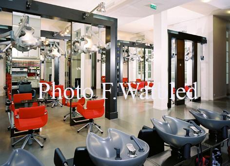 Photographie d\'un salon de coiffure Paris